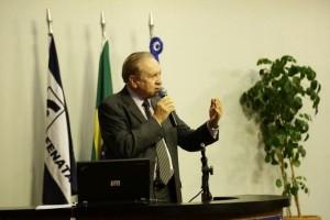 Foto/Divulgação: assessor de Segurança da NTC&Logística, coronel Paulo Roberto de Souza fala no Seminário Nacional de Transporte Rodoviário de Cargas