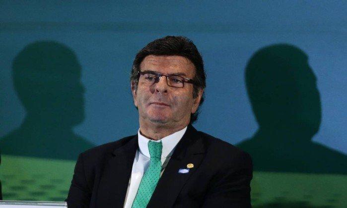 O ministro Luiz Fux, do STF, participa de seminário em Brasília - Jorge William / Agência O Globo